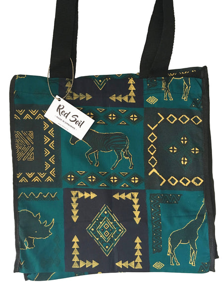 Turquoise Fabric Bag