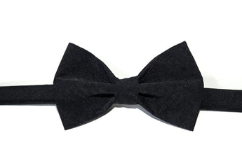Black Fabric Bow Tie
