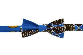 Black, Blue & Gold Bow Tie