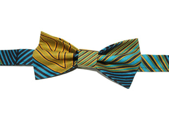 Blue & Green Bow Tie
