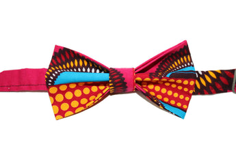 Pink, Yellow & Blue Bow Tie