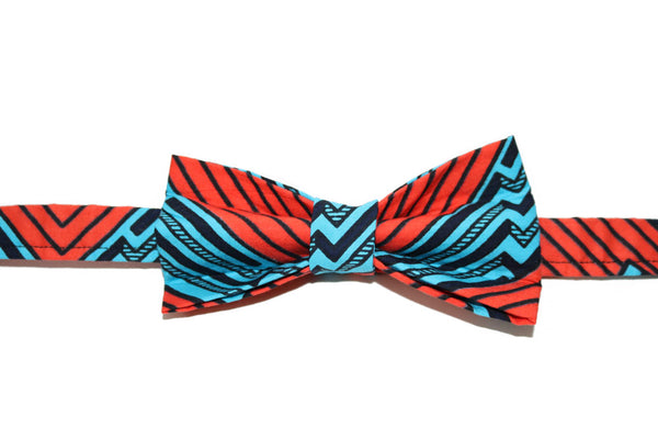 Orange & Blue Bow Tie