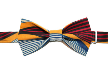 Red, Blue & Yellow Bow Tie