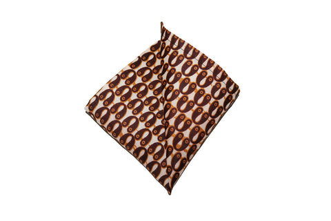 Brown & Beige Pocket Square