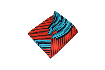 Blue & Orange Pocket Square