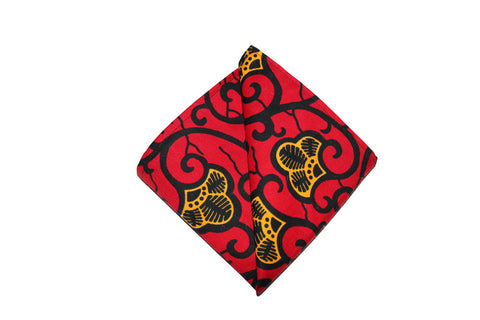 Red & Gold Pocket Square