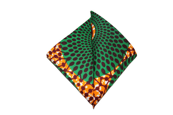 Green & Gold Pocket Square