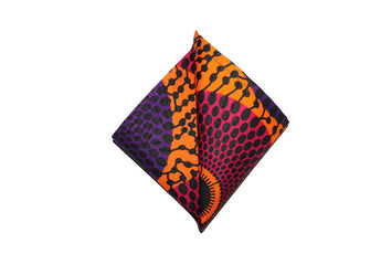 Orange, Pink & Purple Pocket Square