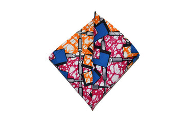 Orange, Pink & Blue Pocket Square