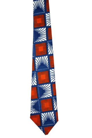 Blue & Orange Tie