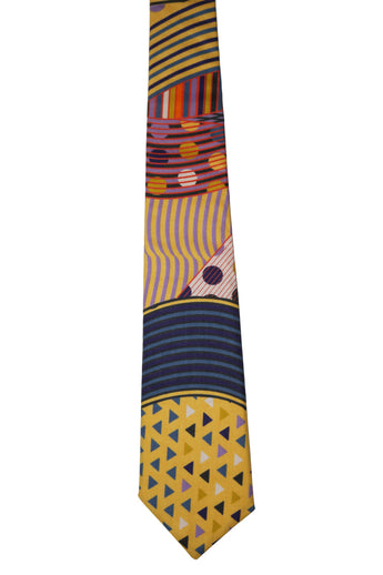 Yellow Multi-Color Tie
