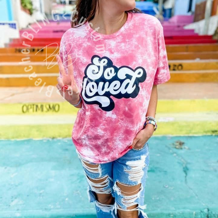 So Loved Tie Dye Graphic Tee