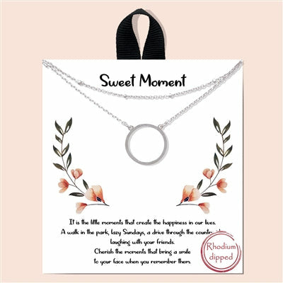 Sweet Moments Silver Layered Necklace