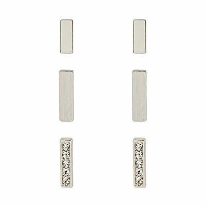 Bar Stud Earring Set