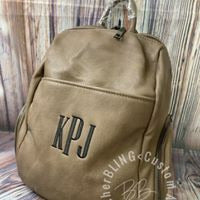 Personalized Backpack Purse with Monogram