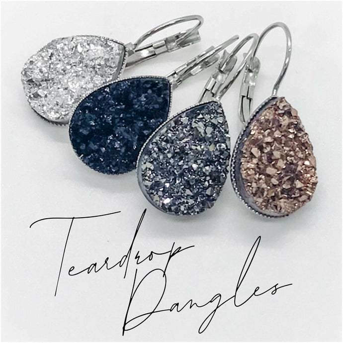 Tear Drop Druzy Earring