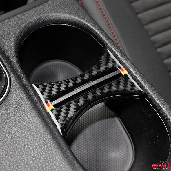DynaCarbon™️ Carbon Fiber Cup Holder Cover Trim Overlay for Mercedes Benz W169 W117 W156 A Class CLA GLA