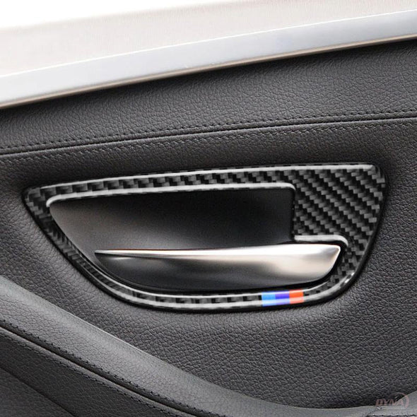 DYNACARBON™️ CARBON FIBER DOOR HANDLE TRIM FOR BMW F10 5 SERIES