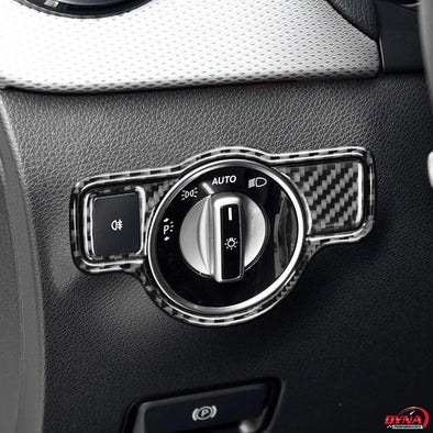 DynaCarbon™️ Carbon Fiber Headlight Switch Trim for Mercedes Benz A B C E G Class CLA GLA GLE GLK GL CLS