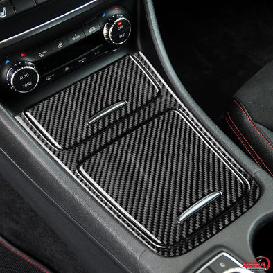DynaCarbon™️ Carbon Fiber Center Console Panel Trim Overlay for Mercedes Benz A Class CLA GLA 2013-18