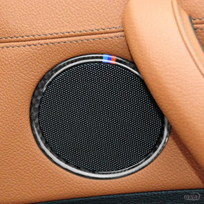 DynaCarbon™️ Carbon Fiber Audio Speaker Trim Overlay for BMW X3 F25 X4 F26 F07 5GT