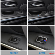 DynaCarbon™️ 4pcs LHD Door Window Panel Trim Overlay for BMW 3 Series E90 E92 E93