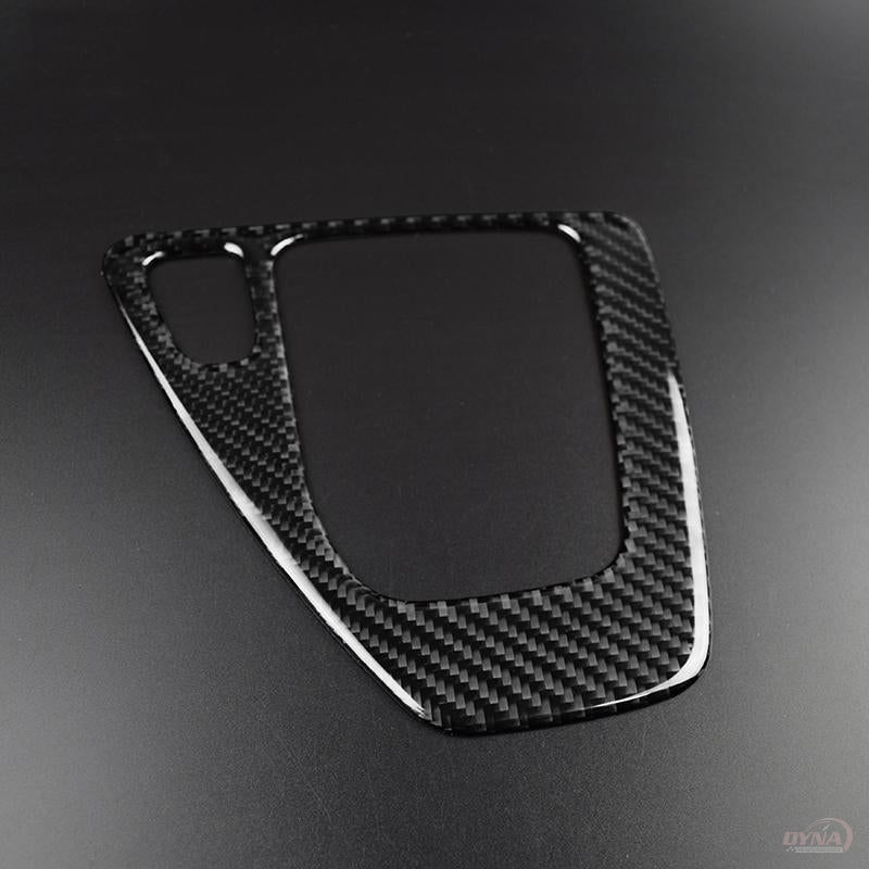 DynaCarbon™️ Carbon Fiber LHD Gear Shift Panel Trim Overlay for BMW 3 Series E90 E92 E93