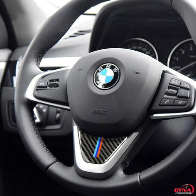 DynaCarbon™️ Carbon Fiber Steering Wheel Trim Overlay for BMW X1 F48 1 Series F52 F45 F46