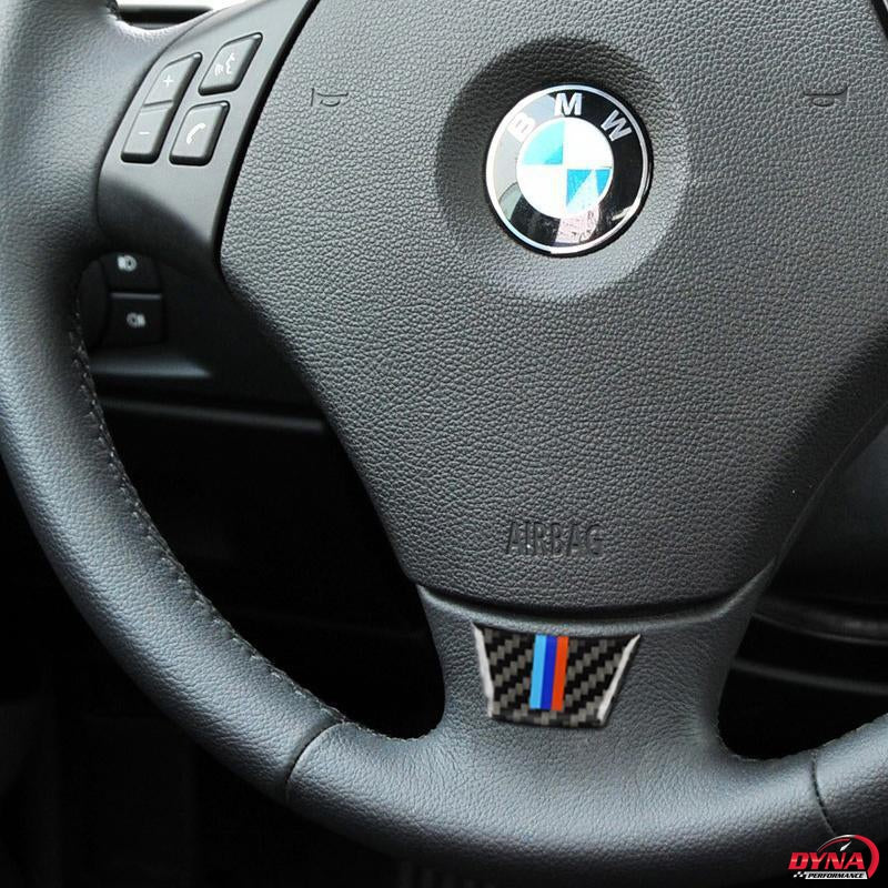 DynaCarbon™️ Carbon Fiber Steering Wheel Trim Overlay for BMW E90 E92 3 Series
