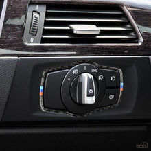 DynaCarbon™️ Carbon Fiber Headlight Switch Frame Trim for BMW E90 3 Series