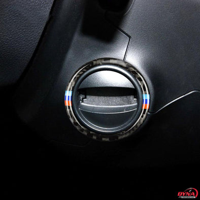 DynaCarbon™️ Carbon Fiber Car Ignition Ring Trim Overlay for BMW E60 2008-2010 5 Series