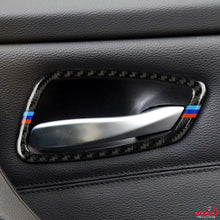 DynaCarbon™️ Carbon Fiber 4PCS Full Set Door Handle Frame Trim Overlay for BMW E90 E92 3 Series