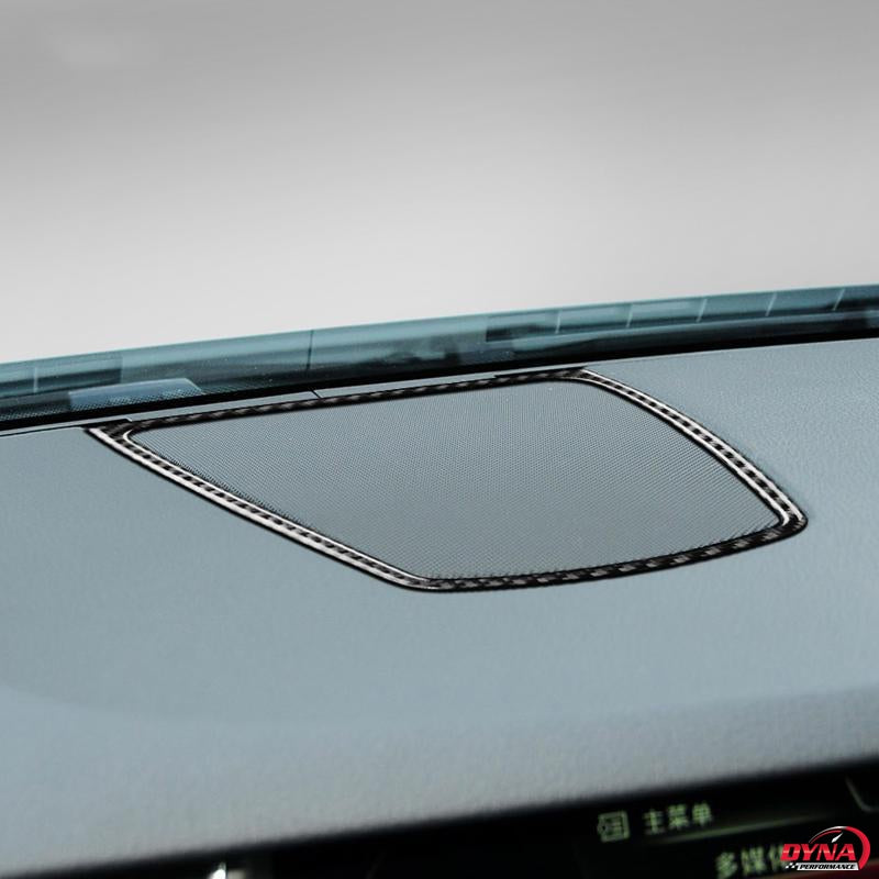 DynaCarbon™️ Carbon Fiber Dashboard Speaker Trim for BMW E70 X5 E71 X6