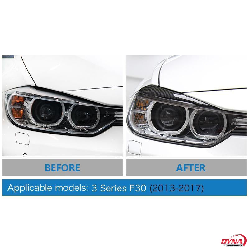 DynaCarbon™️ Carbon Fiber Headlight Eyebrows for BMW F30 3 Series F32 4 Series 2013-2015 Pre-Facelift