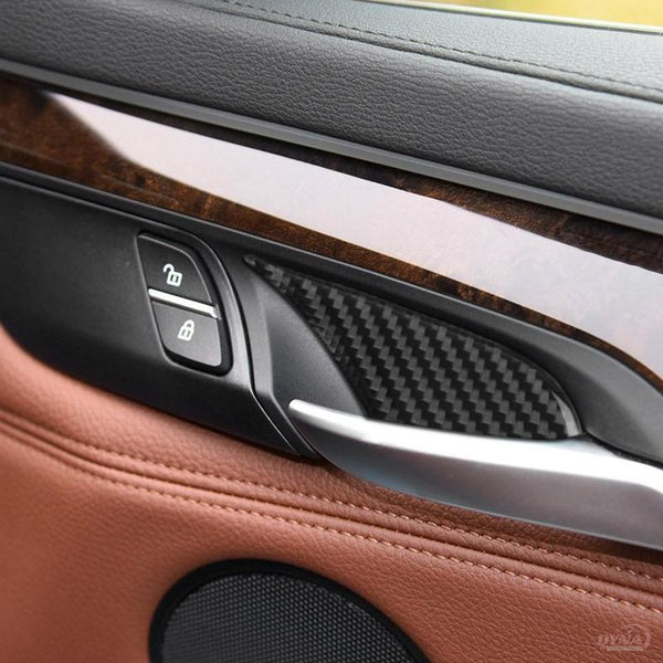 DynaCarbon™️ Carbon Fiber 4PCS Inner Door Handle Trim Overlay for BMW F15 X5 F16 X6