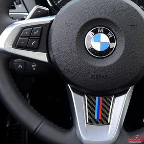 DynaCarbon™️ Carbon Fiber Steering Wheel Trim Overlay for BMW Z4 E89 2009-2015