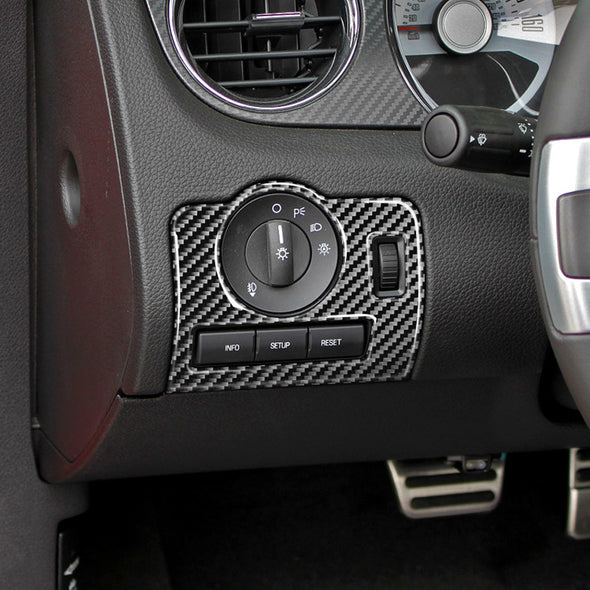 DynaCarbon™ Headlight Control Trim For Ford Mustang 2010-2014