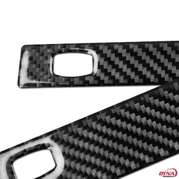 DynaCarbon™️ Carbon Fiber Passenger Cup Holder Trim Overlay for BMW 5 Series E60 520 523 530 2005-2010