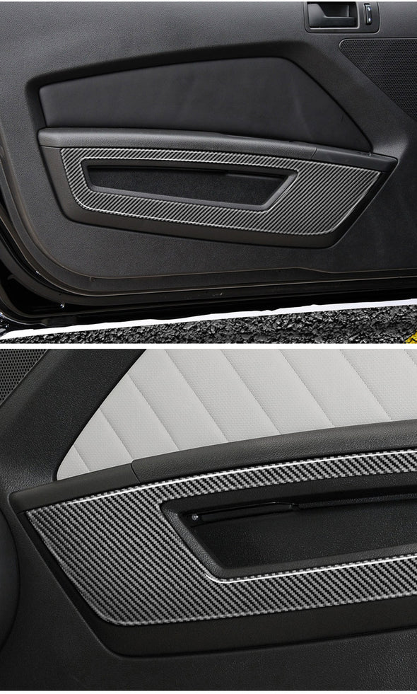 DynaCarbon™ Front Door Panel Trim For Ford Mustang 2010-2014