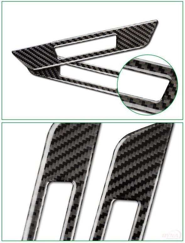 DynaCarbon™️ Carbon Fiber Front Seat Adjustment Frame Overlay for BMW G30