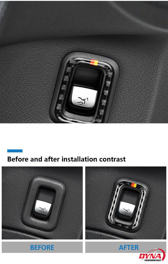 DynaCarbon™️ Carbon Fiber Trunk Switch Trim Overlay for Mercedes Benz C Class W205 C180 C200 C300 GLC
