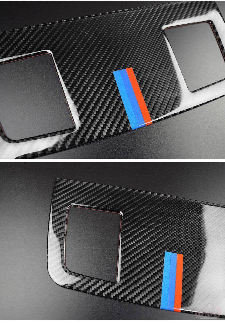 DynaCarbon™️ Dashboard Air Conditioning Outlet Vent Trim Overlay for BMW E90 3 Series