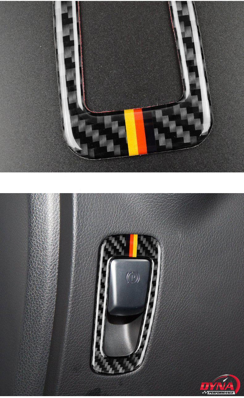 DynaCarbon™️ Carbon Fiber Handbrake Button Trim for Mercedes Benz W205 C Class C180 C200 C300 GLC