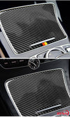 DynaCarbon™️ Carbon Fiber Cup Holder Cover Trim Overlay for Mercedes Benz W205 C Class C180 C200 C300 GLC