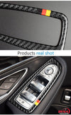 DynaCarbon™️ Full set Carbon Fiber LHD Window Trim Overlay for Mercedes Benz W205 C Class GLC Class