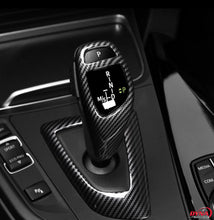 DYNACARBON™️ CARBON FIBER LHD GEARSHIFT KNOB COVER TRIM Overlay FOR BMW