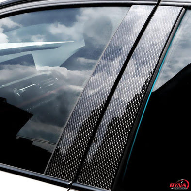 DynaCarbon™️ Carbon Fiber Full Set B Pillars Carbon Fiber Window Mouldings Trim Overlay for BMW 3 5 Series E90 E60 E46 E70 E84 F30 F20 F10 F15 F16 F25