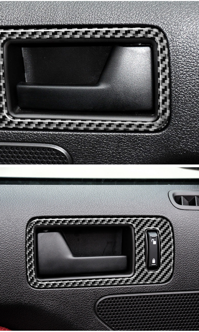 DynaCarbon™ 2 PCS Door Handle Trim For Ford Mustang 2010-2014