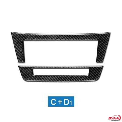 DynaCarbon™️ Carbon Fiber Air Conditioning Control Trim Overlay for Mercedes Benz C Class W204 2011-2013