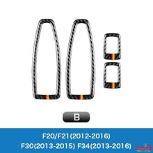 DynaCarbon™️ Carbon Fiber Full Set Window Control Frame Trim Overlay for BMW F20 F21 F22 F30 F34